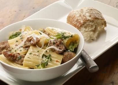 Italian sausage pairs beautifully with pasta and escarole