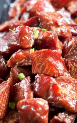 Smoked salmon is wonderful when it caramelizes.