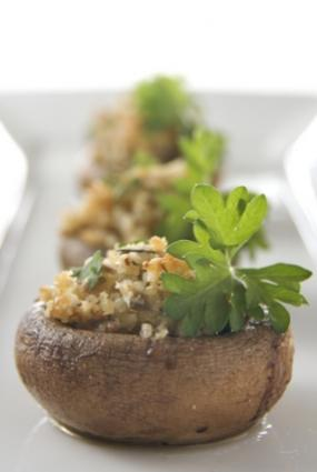 mushroom with parsley