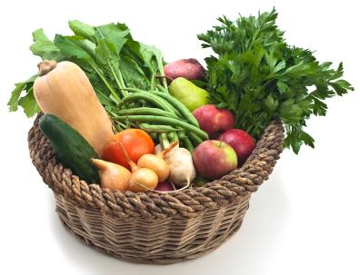 Captivating Fruit And Vegetable Basket