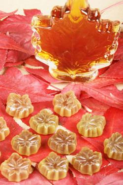 Maple syrup and sugar candies