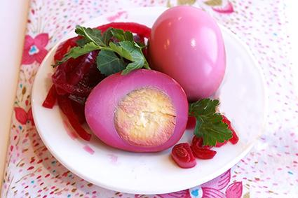 Beet Pickled Quail Eggs