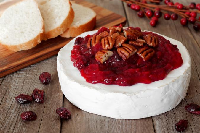 brie with cranberry