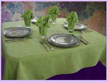 Organic fiber tablecloth and napkin set