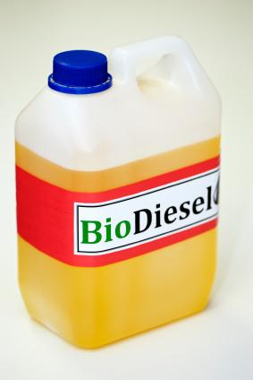container of biodiesel