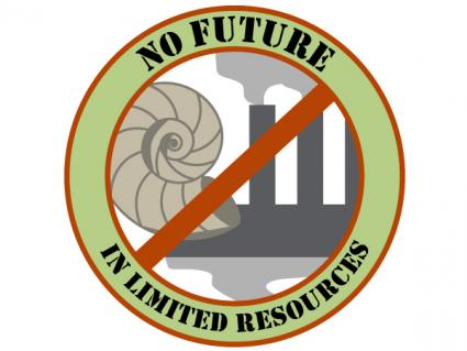 Environmental slogan 1 No Future for Limited Resources