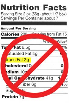 Nutrition Label No Trans Fats