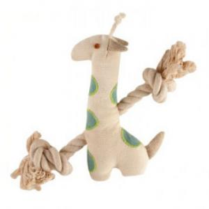 Natural Canvas and Rope Giraffe Toy