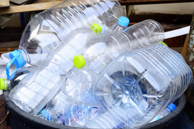 Plastics in trash