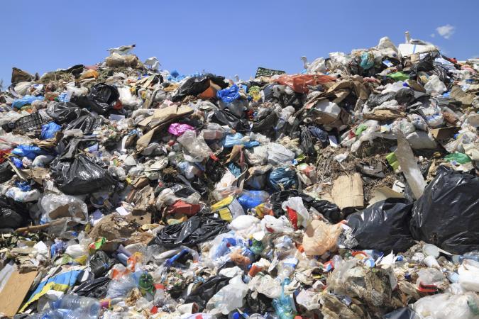 Garbage at landfill