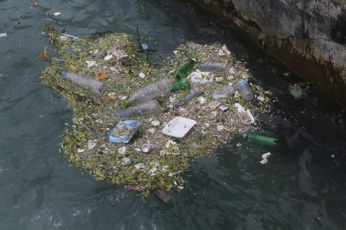 Waste in the ocean