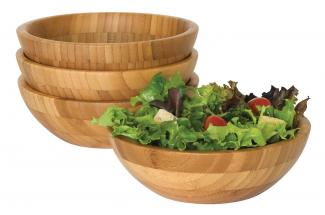 Bamboo bowl set at Amazon