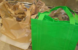 Reuse and recycle grocery bags