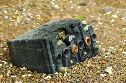Hybrid car battery pollution production