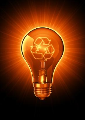 Light bulb recycling concept