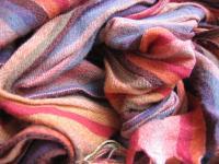 striped woolen scarf