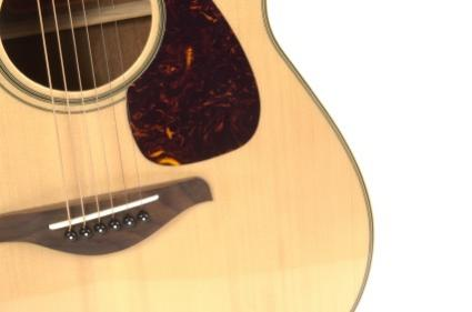 Acoustic guitar close-up