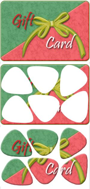 make your own gift card guitar picks
