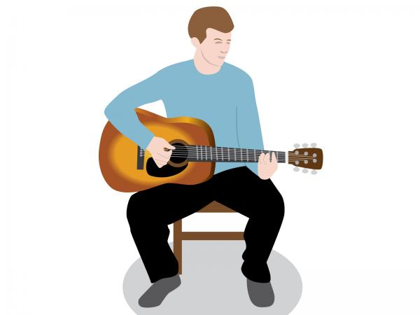 guitar player clipart