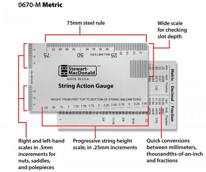 StewMac String Action Gauge And Ruler