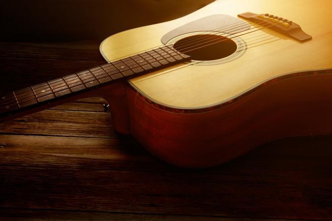acoustic guitar close-up