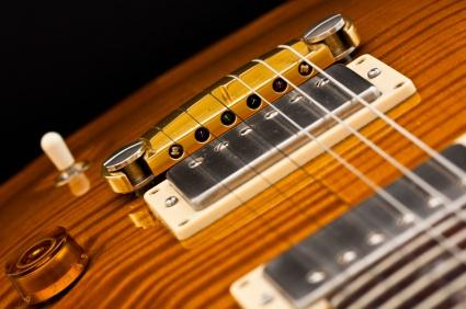 Guitar pickups and strings.
