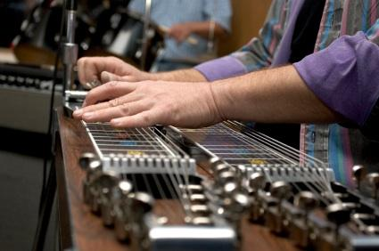 Double neck steel guitar.