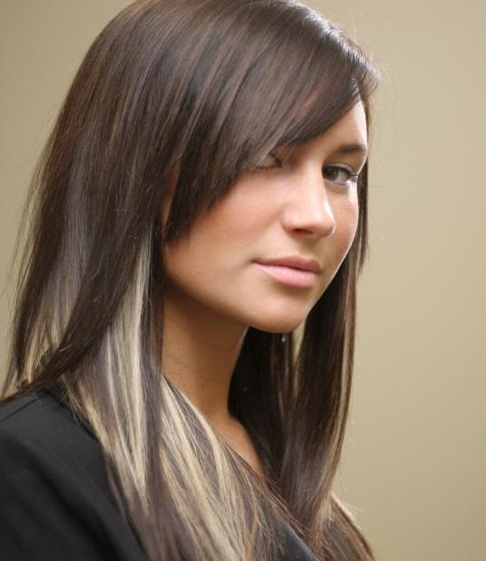 Hairstyles Dark Brown With Caramel Highlights