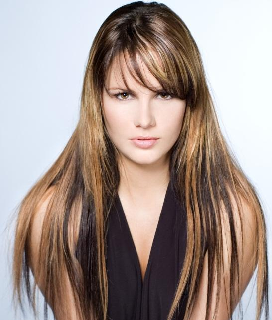 Pictures of dark hair with highlights lovetoknow multi tone cinnamon and blonde highlights pmusecretfo Image collections