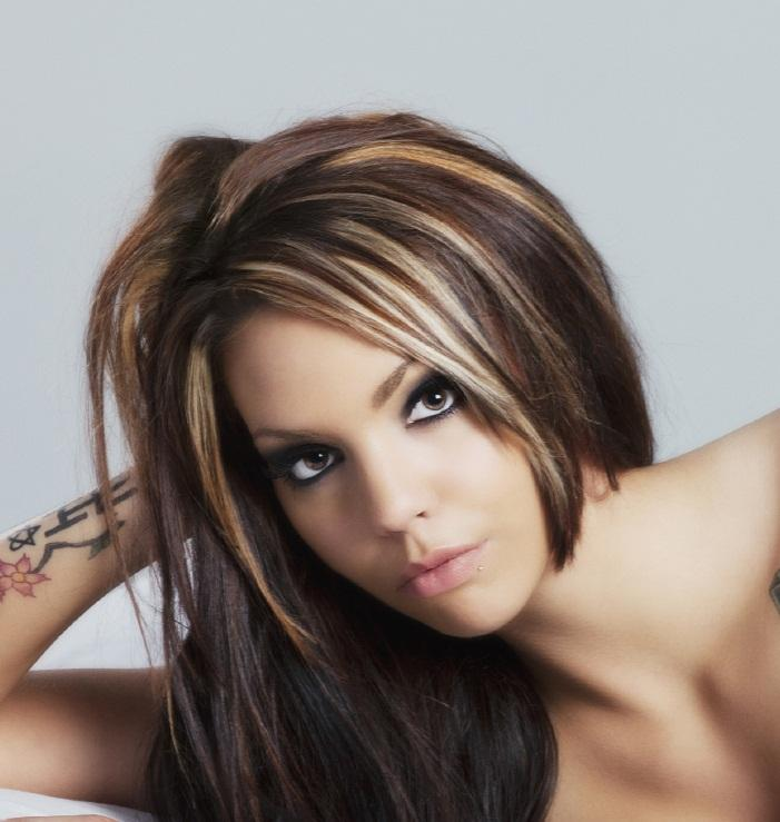 Pictures of Dark Hair with Highlights