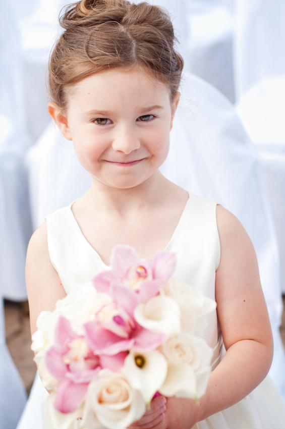 Flower girl with hair bun