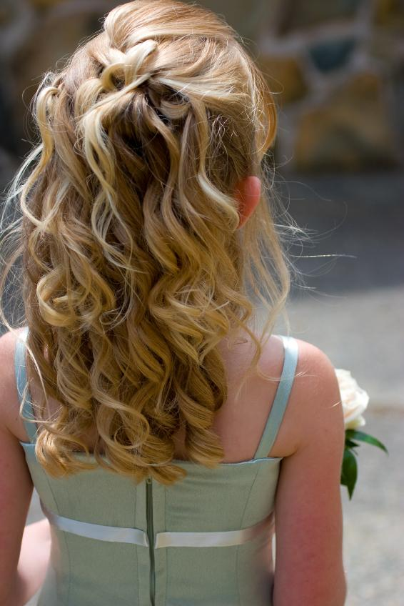 Brilliant Wedding Hairstyles For Little Girls Slideshow Hairstyle Inspiration Daily Dogsangcom