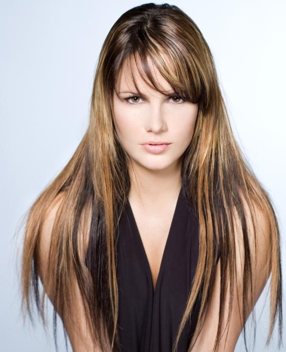 Dark brown hair with caramel highlights lovetoknow heavy caramel highlights on dark hair pmusecretfo Gallery