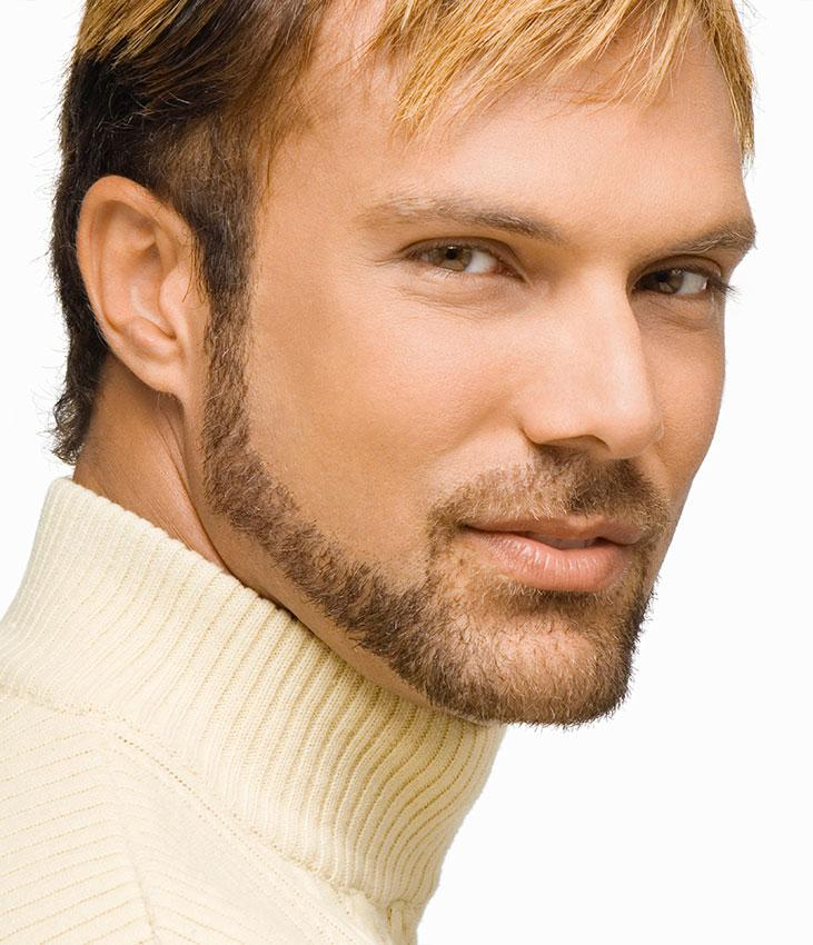 Medium Bald Fade With Chin Strap Beard Male Models Picture