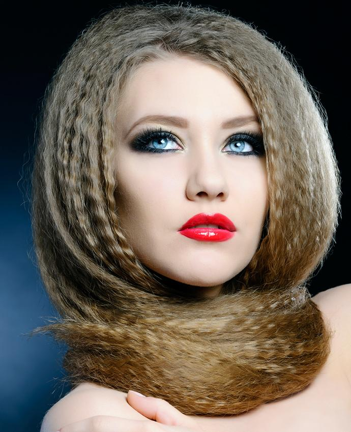 Crimped hair styles lovetoknow smooth crimped hair urmus Images