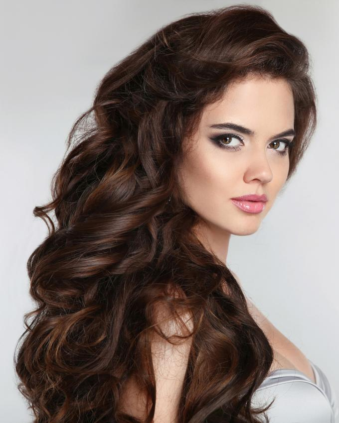 long hair with loose curl perm