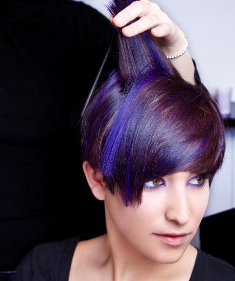 chunky colored highlights alternative chunky highlights hairstyles ...