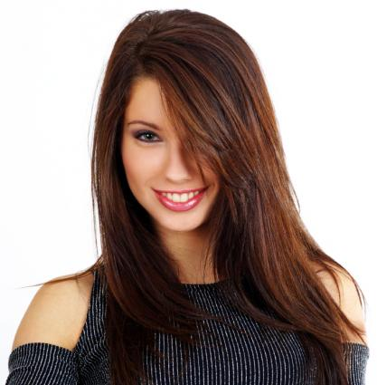 brown hair with red highlights pictures. Red highlights add zip to
