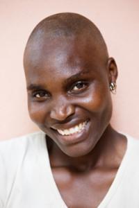 Beautiful bald woman