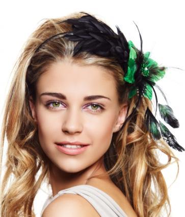 featehr headband