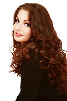 easy to style and care for long hair spiral perms with uniform