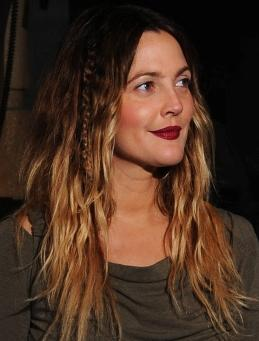 drew barrymore with two tone color