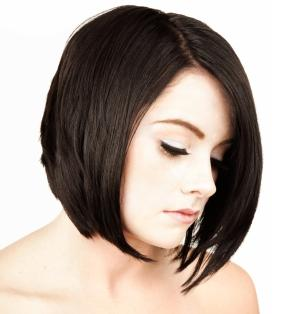 Long Dark Hair Short Bob Hairstyles