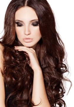 Dark Mahogany Brown Hair