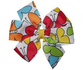 rainbow butterflies pinwheel bow