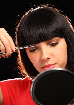 how to cut your own hair women
