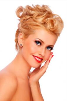 Loose Pin Curl Updo
