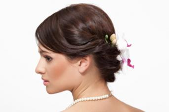 Orchids in updo