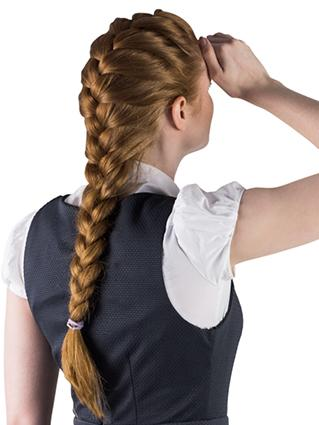 French Braid With Weave