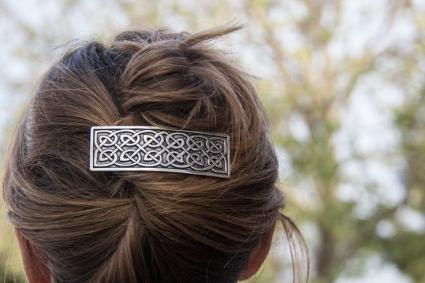 Large Celtic barrette 80 mm